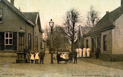 Gaslantaarn in de Burg. Frenckenstraat (1905)